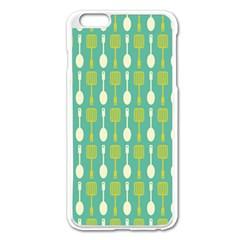 Spatula Spoon Pattern Apple Iphone 6 Plus Enamel White Case