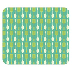 Spatula Spoon Pattern Double Sided Flano Blanket (Small)