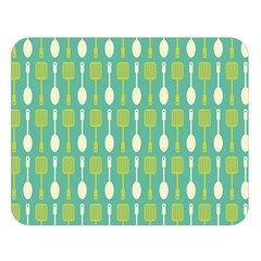 Spatula Spoon Pattern Double Sided Flano Blanket (Large)