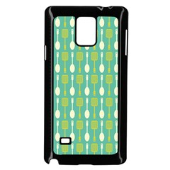 Spatula Spoon Pattern Samsung Galaxy Note 4 Case (Black)