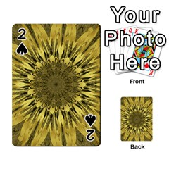 Kaleido Flower,golden Playing Cards 54 Designs