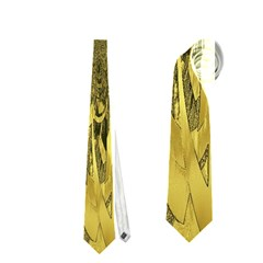 Kaleido Flower,golden Neckties (two Side)