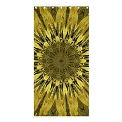 Kaleido Flower,golden Shower Curtain 36  x 72  (Stall)