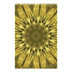 Kaleido Flower,golden Shower Curtain 48  x 72  (Small)
