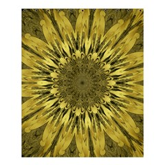 Kaleido Flower,golden Shower Curtain 60  x 72  (Medium)