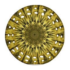 Kaleido Flower,golden Ornament (round Filigree)