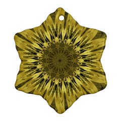 Kaleido Flower,golden Snowflake Ornament (2-Side)