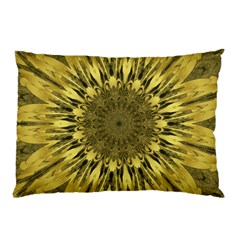 Kaleido Flower,golden Pillow Cases (two Sides)