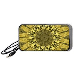 Kaleido Flower,golden Portable Speaker (black)