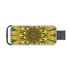 Kaleido Flower,golden Portable USB Flash (One Side)