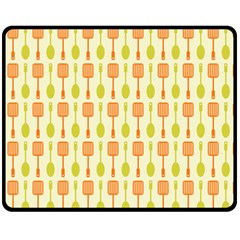 Spatula Spoon Pattern Fleece Blanket (medium)