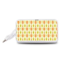 Spatula Spoon Pattern Portable Speaker (White)