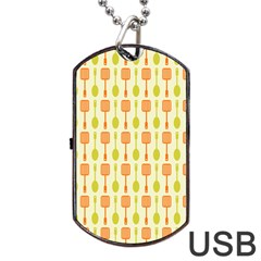 Spatula Spoon Pattern Dog Tag USB Flash (One Side)