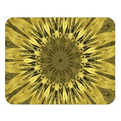 Kaleido Flower,golden Double Sided Flano Blanket (large)