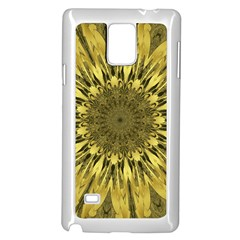Kaleido Flower,golden Samsung Galaxy Note 4 Case (White)