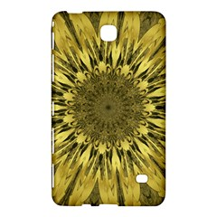 Kaleido Flower,golden Samsung Galaxy Tab 4 (7 ) Hardshell Case