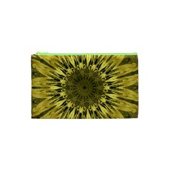 Kaleido Flower,golden Cosmetic Bag (xs)