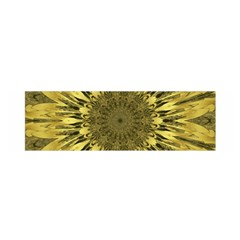 Kaleido Flower,golden Satin Scarf (Oblong)