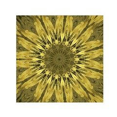 Kaleido Flower,golden Small Satin Scarf (Square)