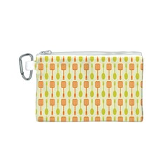 Spatula Spoon Pattern Canvas Cosmetic Bag (S)