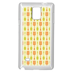Spatula Spoon Pattern Samsung Galaxy Note 4 Case (White)