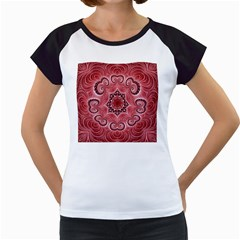 Awesome Kaleido 07 Red Women s Cap Sleeve T