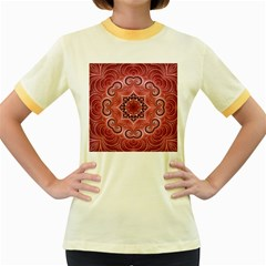 Awesome Kaleido 07 Red Women s Fitted Ringer T-Shirts
