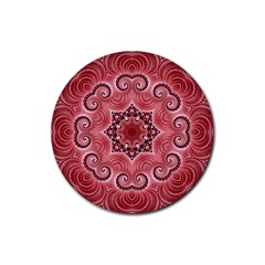 Awesome Kaleido 07 Red Rubber Coaster (round)