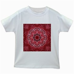 Awesome Kaleido 07 Red Kids White T-Shirts