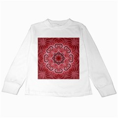 Awesome Kaleido 07 Red Kids Long Sleeve T Shirts