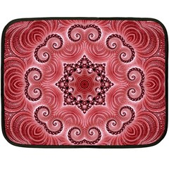 Awesome Kaleido 07 Red Fleece Blanket (Mini)