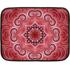 Awesome Kaleido 07 Red Fleece Blanket (mini)