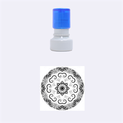 Awesome Kaleido 07 Red Rubber Round Stamps (Small)
