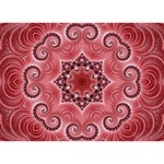 Awesome Kaleido 07 Red LOVE Bottom 3D Greeting Card (7x5)  Front