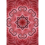 Awesome Kaleido 07 Red LOVE Bottom 3D Greeting Card (7x5)  Inside