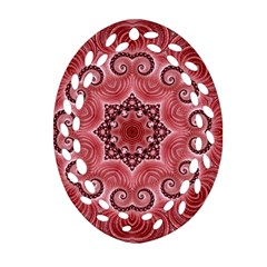 Awesome Kaleido 07 Red Ornament (Oval Filigree)