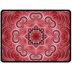 Awesome Kaleido 07 Red Double Sided Fleece Blanket (large)