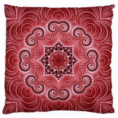 Awesome Kaleido 07 Red Large Flano Cushion Cases (One Side)