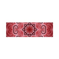 Awesome Kaleido 07 Red Satin Scarf (oblong)