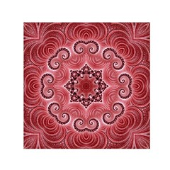Awesome Kaleido 07 Red Small Satin Scarf (Square)