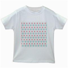 Spatula Spoon Pattern Kids White T Shirts