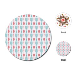 Spatula Spoon Pattern Playing Cards (Round)