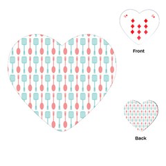 Spatula Spoon Pattern Playing Cards (Heart)