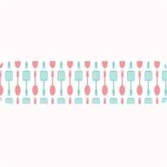 Spatula Spoon Pattern Large Bar Mats