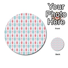 Spatula Spoon Pattern Multi-purpose Cards (Round)