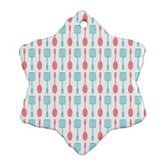 Spatula Spoon Pattern Snowflake Ornament (2-Side)