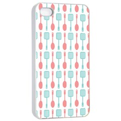 Spatula Spoon Pattern Apple Iphone 4/4s Seamless Case (white)