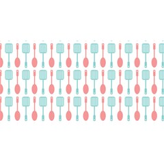 Spatula Spoon Pattern YOU ARE INVITED 3D Greeting Card (8x4)