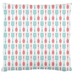 Spatula Spoon Pattern Large Flano Cushion Cases (two Sides)