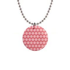 Abstract Knot Geometric Tile Pattern Button Necklaces